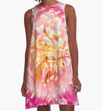 soft sparkling energy vortex abstract A-Line Dress