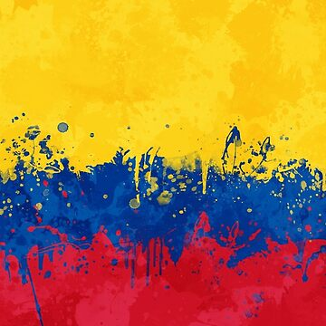 Colombia Flag - Messy Splatter Grunge by GrizzlyGaz