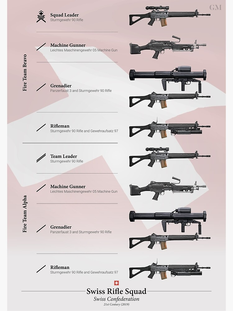 Weapons of the Swiss Rifle Squad (Modern) by nothinguntried
