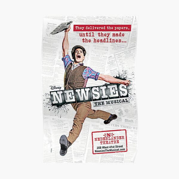 Newsies Broadway Poster Poster