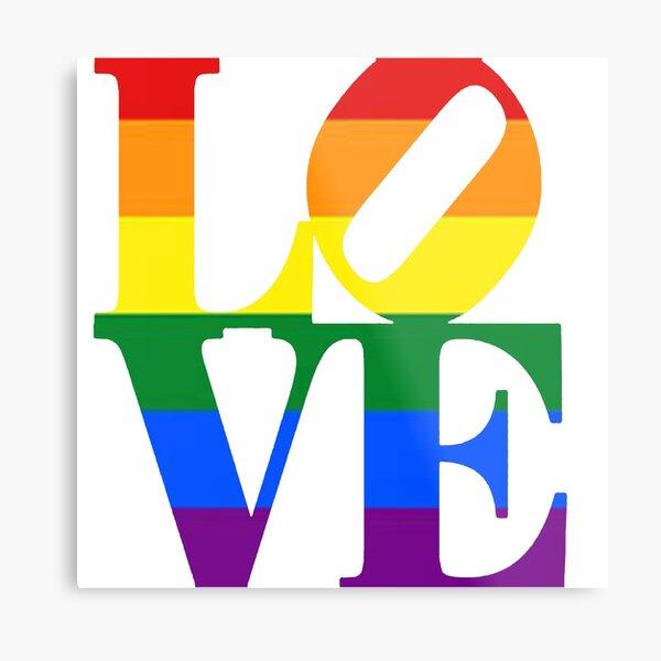 LGBTQ LOVE Pride Metal Print