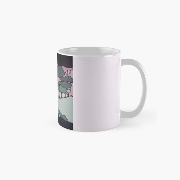 The 'Sunset' over hills, trees and fields. Classic Mug