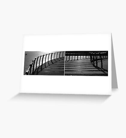 Floating Bridge (diptych 3/4) Greeting Card