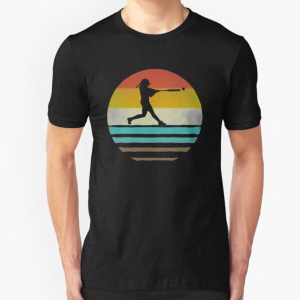 Retro Vintage Softball Coach Player Team Mom Dad Gift Slim Fit T-Shirt
