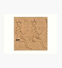 Hieroglyphs at Edfu Temple 4 Art Print