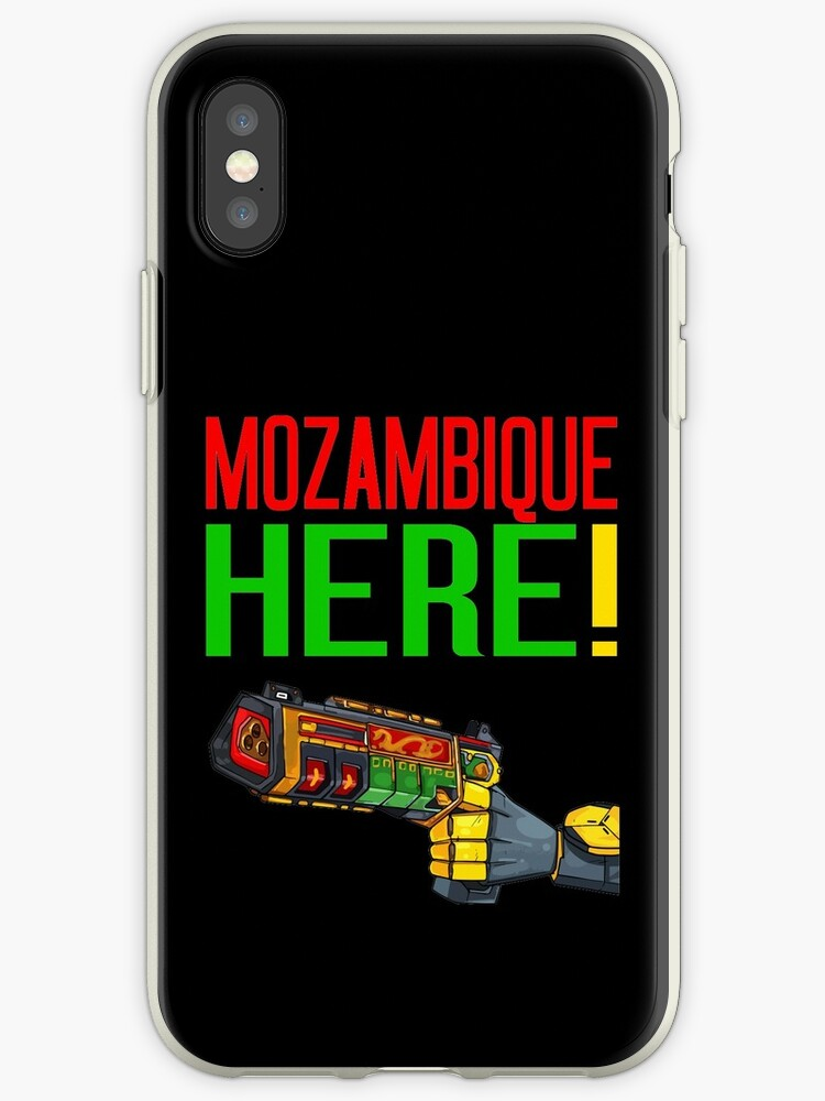 the latest c0f3a 4df61 'MOZAMBIQUE HERE!' iPhone Case by Lowkey Fortnite Tees