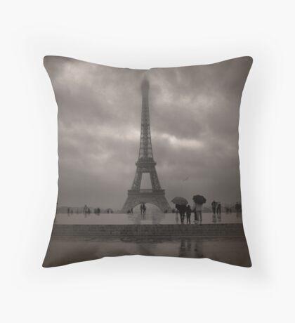 Damien's Paris Holiday Throw Pillow