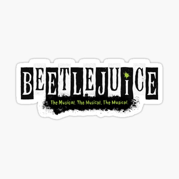 Beetlejuice Musical Broadway-Logo Sticker