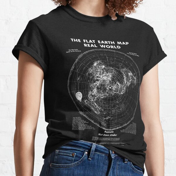 Real World Map Classic T-Shirt