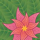 Mandala Tropical Flower by Ryan McGurl