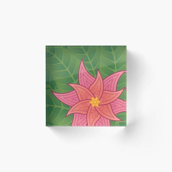 Mandala Tropical Flower Acrylic Block