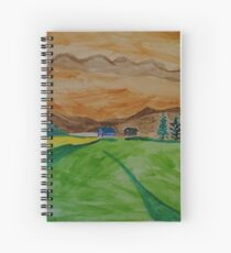 Landscape in watercolor Spiral Notebook