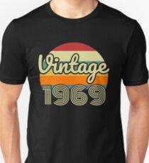 50th birthday gift vintage 1969 Slim Fit T-Shirt