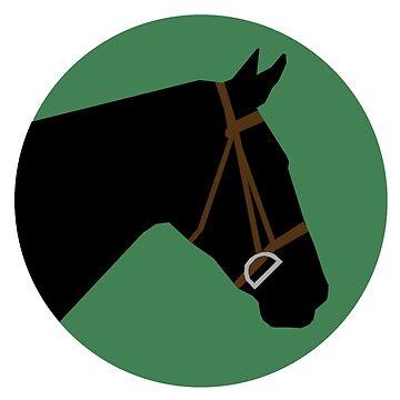 Minimalist Horse → Black/Green by e-q-u-i-t-a-t-e