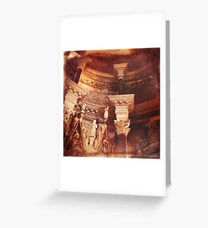 Past Imperfect - Cathedral Split, Croatia Greeting Card