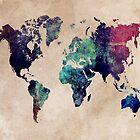 World Map cold World by JBJart