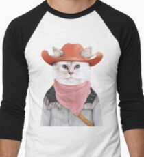 Rodeo Cat Men's Baseball ¾ T-Shirt