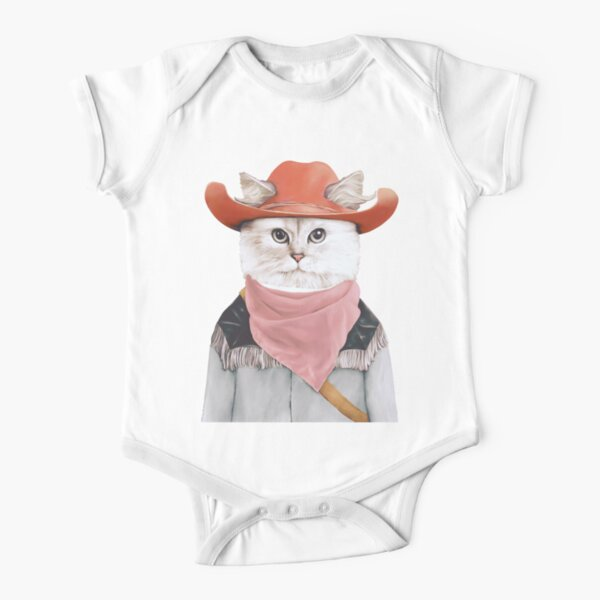 Rodeo Cat Short Sleeve Baby One-Piece