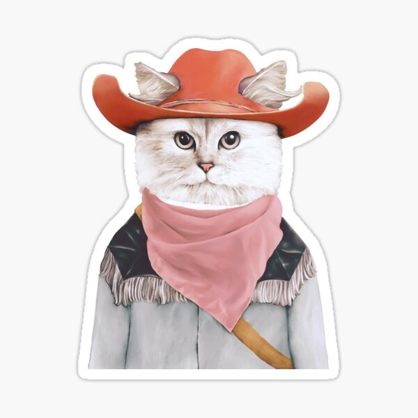 Rodeo Cat Sticker