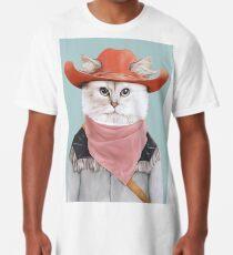 Camiseta larga Gato rodeo