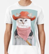 Rodeo Cat Männer Premium T-Shirts