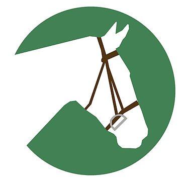 Minimalist Horse → White/Green  by e-q-u-i-t-a-t-e