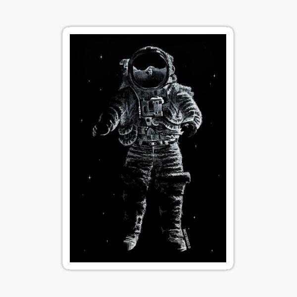 Scribbled astronaut Sticker
