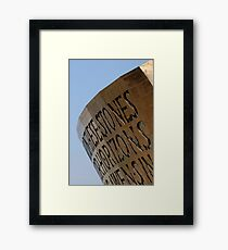 Cardiff bay, millennium centre, Wales, UK Framed Print