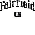 Fairfield Iowa IA Vintage Style Faded Tee from Hometown Tees von HometownTees