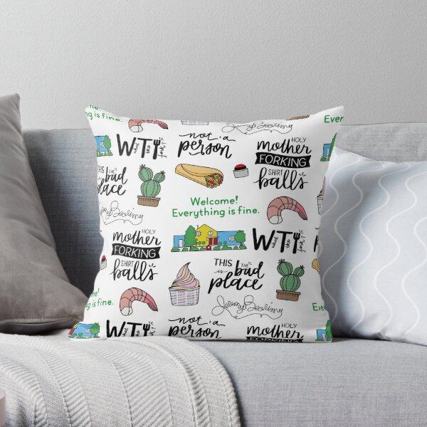 The Good Place TV Show Art Throw Pillow