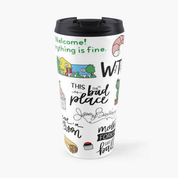 The Good Place TV Show Art Travel Mug