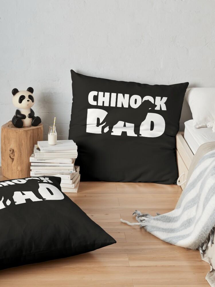 Vista alternativa de Cojines de suelo Chinook Dad T-Shirt Chinook Gift Father Dog Dad Tee
