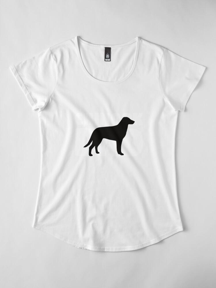 Vista alternativa de Camiseta premium de cuello ancho Chinook Dad T-Shirt Chinook Gift Father Dog Dad Tee