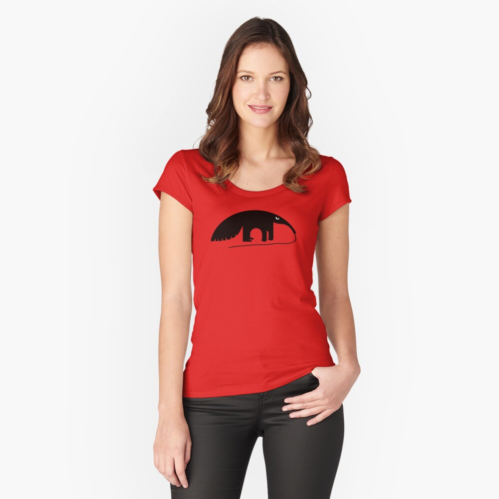 Angry Animals - Anteater Fitted Scoop T-Shirt