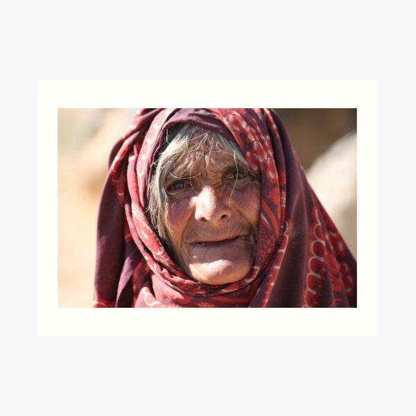 Old Woman (afghanistan) Art Print