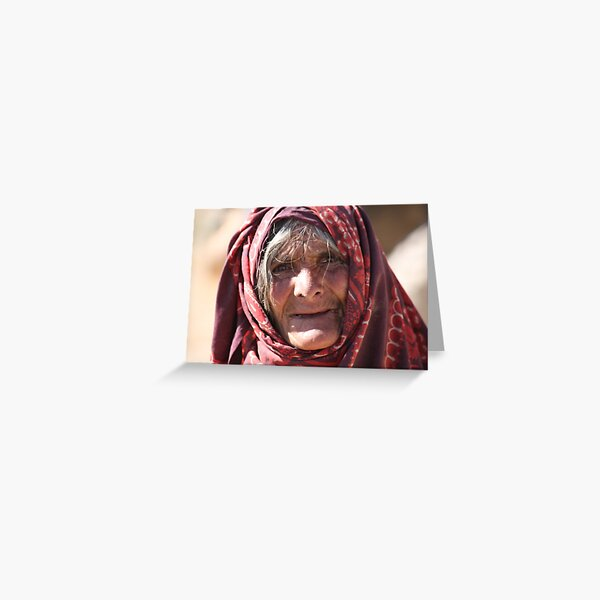 Old Woman (afghanistan) Greeting Card