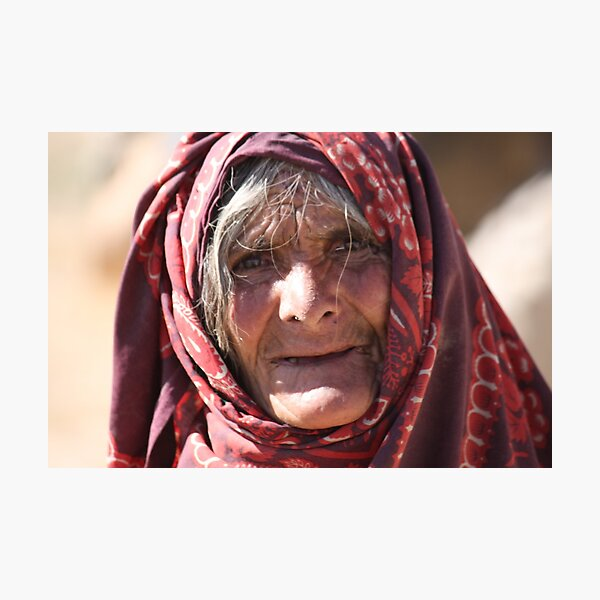 Old Woman (afghanistan) Photographic Print