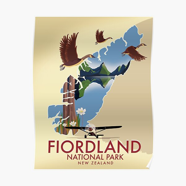 Fiordland National Park New Zealand  Poster