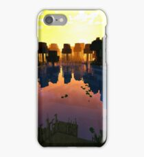 Beautiful Pond on Minecraft accompanied by Shaders iPhone Case/Skin