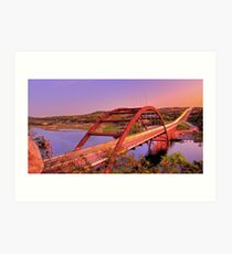 Austins 360 Bridge at Dusk Art Print