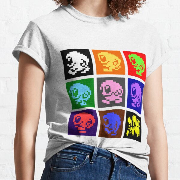 Tiled Egghead Animation in Multiple Colours Classic T-Shirt