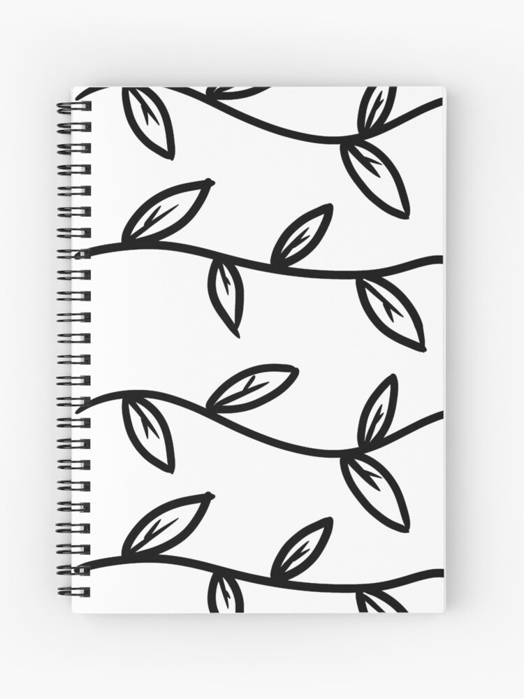 Aesthetic Leaves Illustration Nature Lover Gift Idea Spiral Notebook By Newarts Redbubble