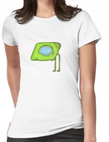 Funny Alien Monster Character Womens Fitted T-Shirt