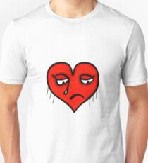 Sad Heart Drawing Unisex T-Shirt