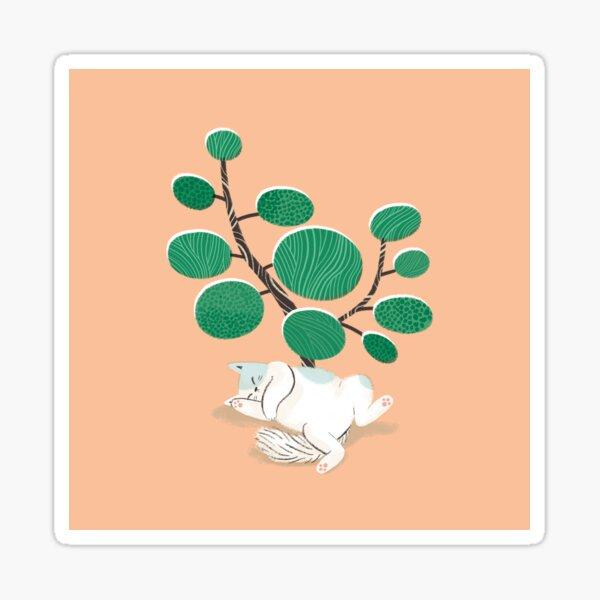 Cat nap III (peach) Sticker