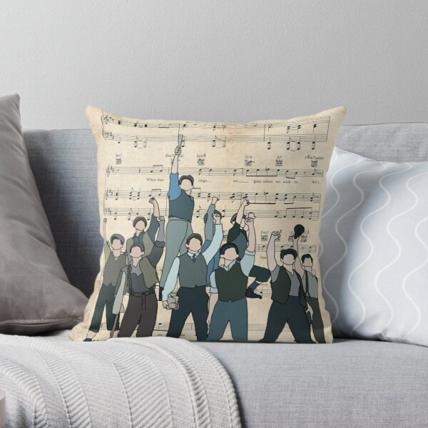 Carrying the banner  Throw Pillow