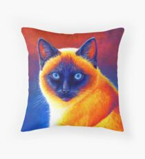 Jewel of the Orient - Siamese Cat Throw Pillow