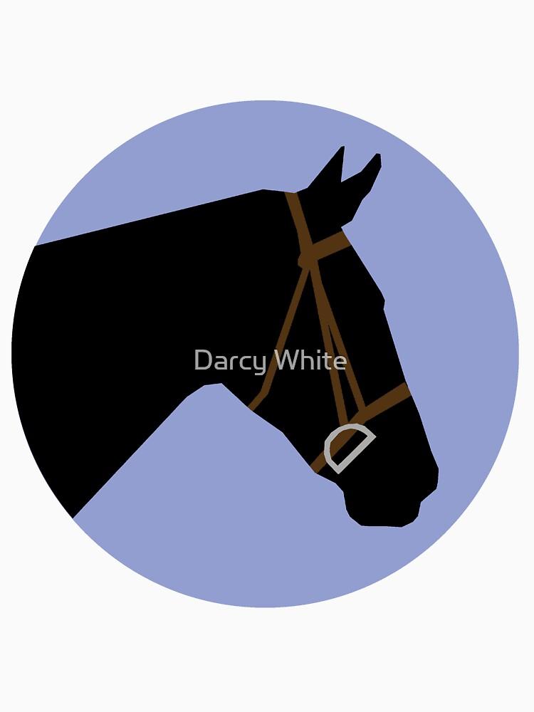 Minimalist Horse → Black/Lavender  by e-q-u-i-t-a-t-e