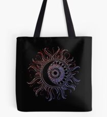 Henna-Inspired Sun and Moon Tote Bag