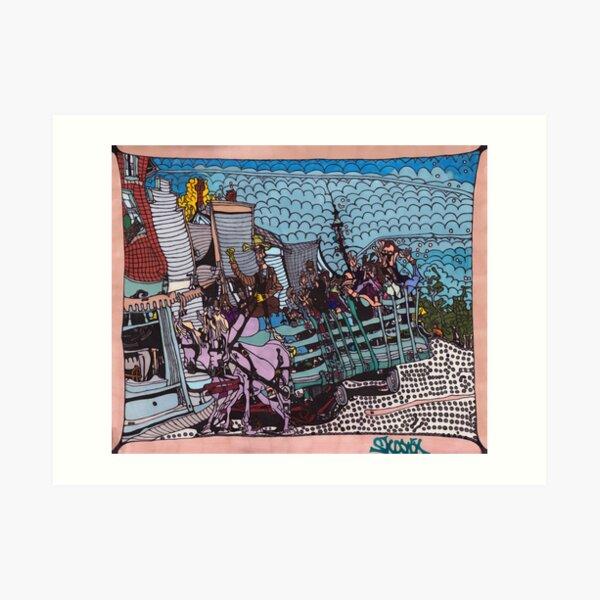 Good 'Ol Fashioned Hay Ride - Heritage Park Art Print